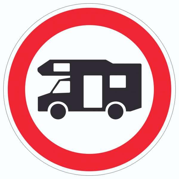 Wohnmobil Durchfahrt verboten Aufkleber Kreis