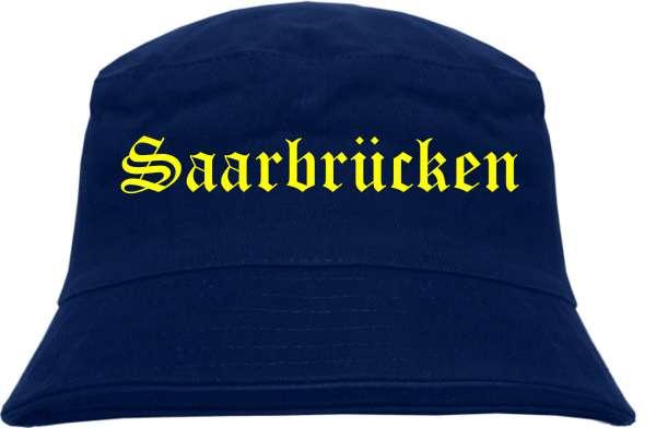 Saarbrücken Fischerhut - Dunkelblau - Gelber Druck - Bucket Hat