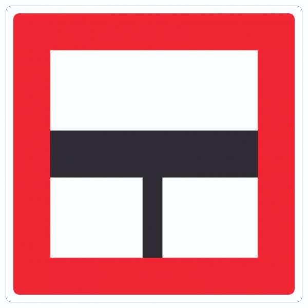 Nur einfahren in die Hauptwasserstraße wenn niemand behindert wird Aufkleber Quadrat mit Symbol un