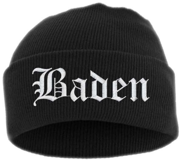 Baden Umschlagmütze - Altdeutsch - Bestickt - Mütze mit breitem Umschlag