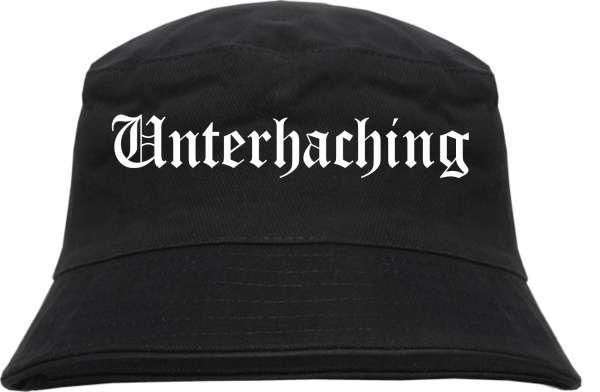 Unterhaching Fischerhut - Altdeutsch - bedruckt - Bucket Hat Anglerhut Hut
