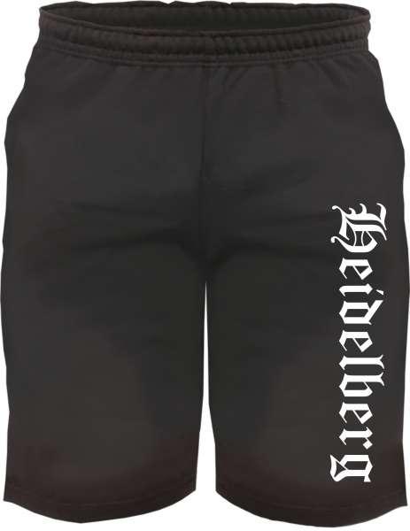 Heidelberg Sweatshorts - Altdeutsch bedruckt - Kurze Hose Shorts