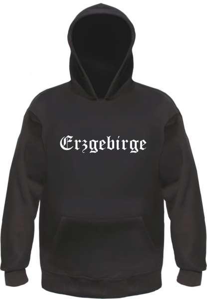Erzgebirge Kapuzensweatshirt - Altdeutsch - bedruckt - Hoodie Kapuzenpullover
