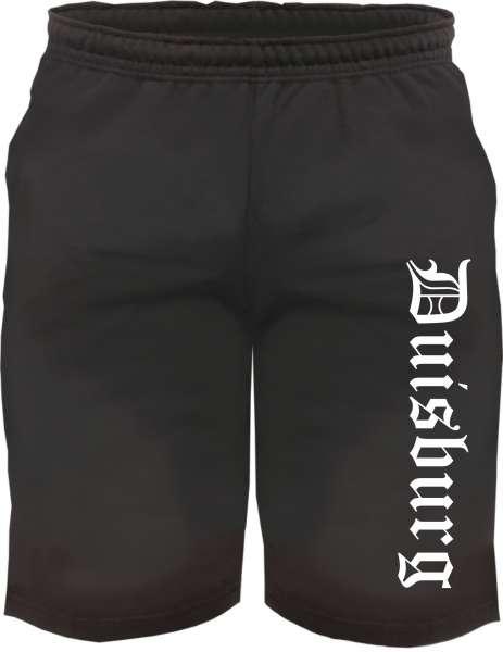 Duisburg Sweatshorts - Altdeutsch bedruckt - Kurze Hose Shorts