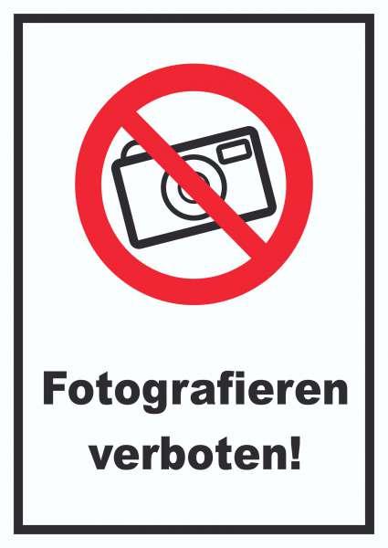 Fotografieren verboten Schild Keine Photos