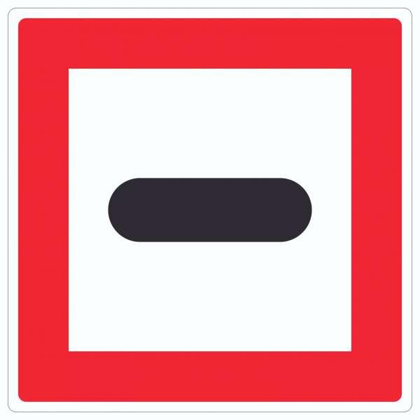 Anhalten Aufkleber Quadrat mit Symbol und Text Stopp