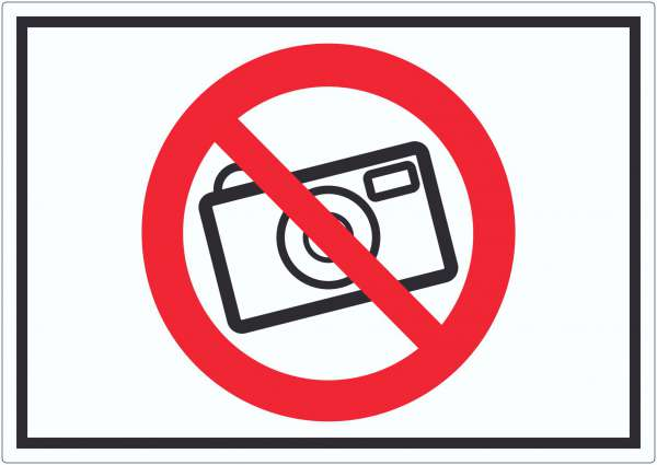 Fotografieren Verboten Symbol Aufkleber Keine Photos