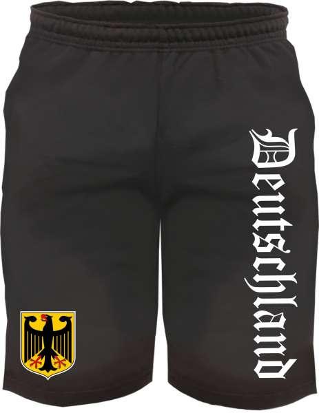 Deutschland Sweatshorts - Altdeutsch bedruckt - Kurze Hose Shorts Wappen