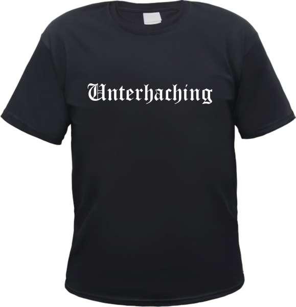 Unterhaching Herren T-Shirt - Altdeutsch - Tee Shirt