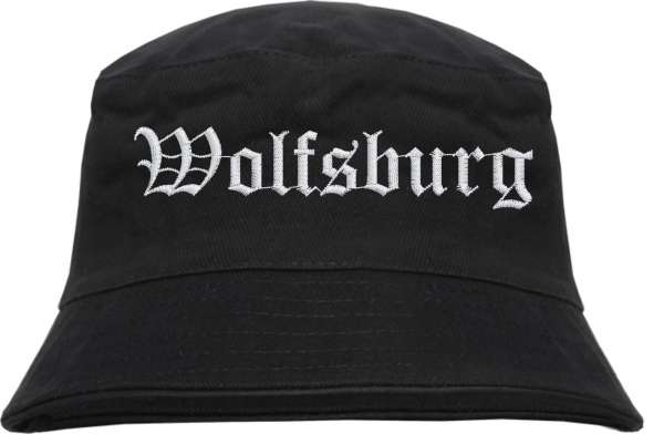 Wolfsburg Fischerhut - Altdeutsch - bestickt - Bucket Hat Anglerhut Hut