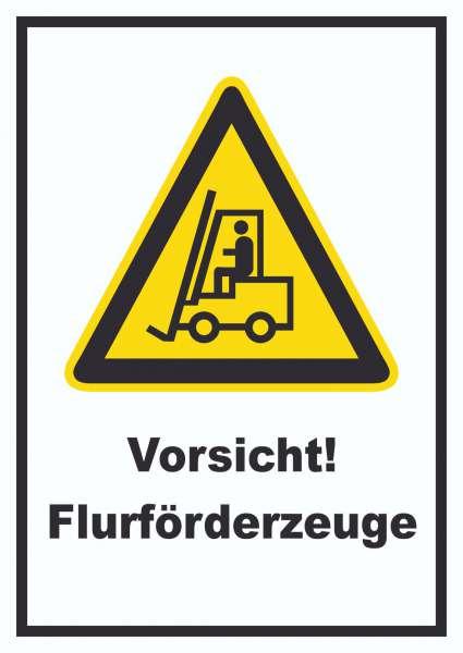 Achtung Gabelstapler Schild .