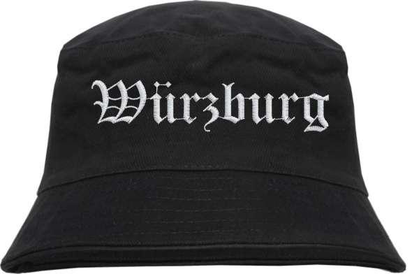 Würzburg Fischerhut - Altdeutsch - bestickt - Bucket Hat Anglerhut Hut