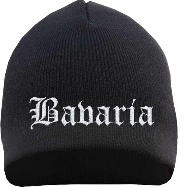 Bavaria Beanie Mütze - Altdeutsch - Bestickt - Strickmütze Wintermütze