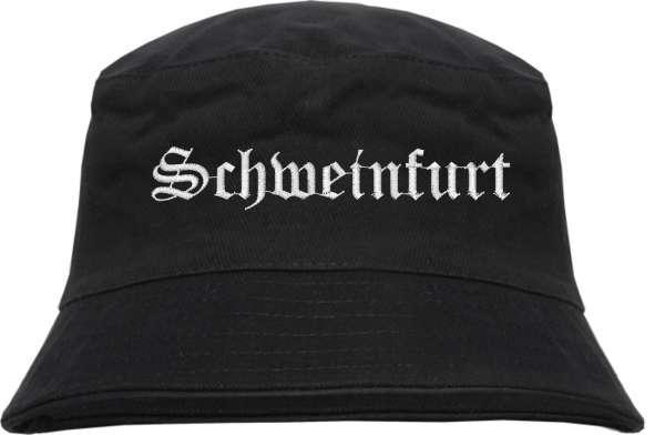 Schweinfurt Fischerhut - Altdeutsch - bestickt - Bucket Hat Anglerhut Hut