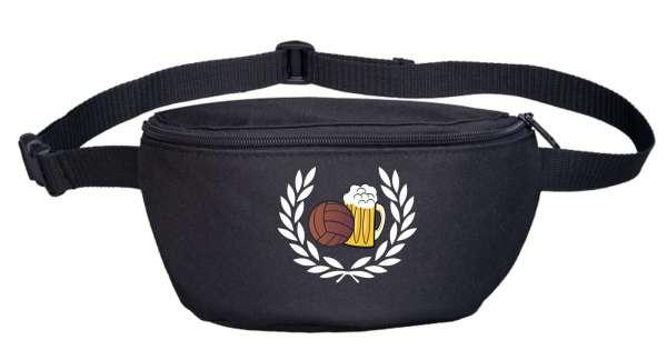 Lorbeerkranz Fussball Bier Bauchtasche Bestickt
