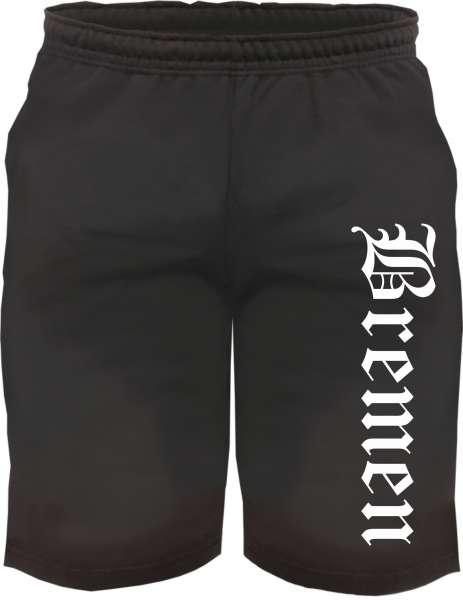 Bremen Sweatshorts - Altdeutsch bedruckt - Kurze Hose Shorts