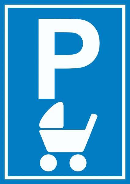 Kinderwagen Parkplatz Schild