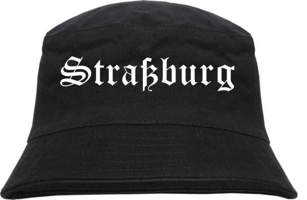 Straßburg Fischerhut - Altdeutsch - bedruckt - Bucket Hat Anglerhut Hut