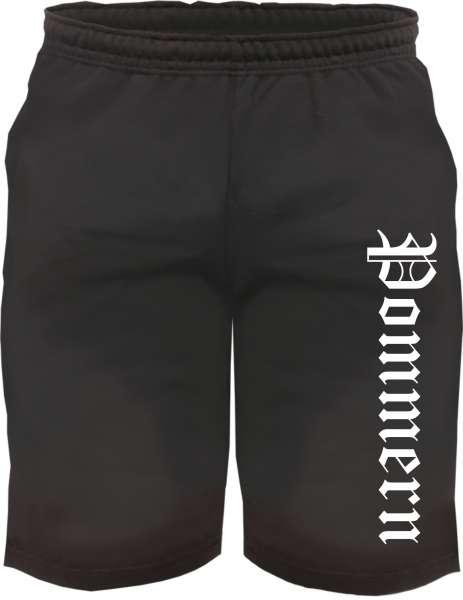 Pommern Sweatshorts - Altdeutsch bedruckt - Kurze Hose Shorts