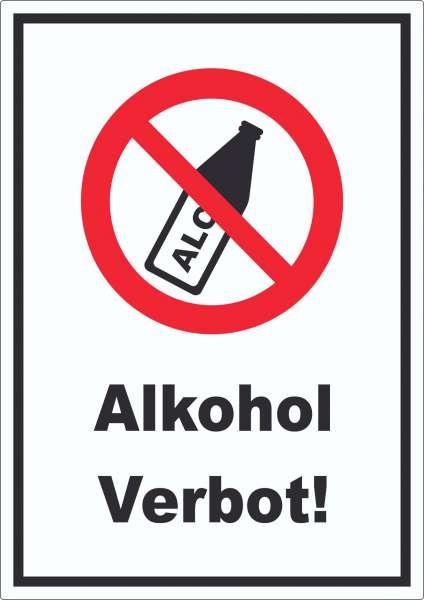 Alkohol verbot Aufkleber