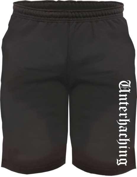 Unterhaching Sweatshorts - Altdeutsch bedruckt - Kurze Hose Shorts