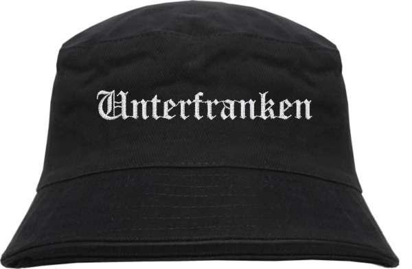 Unterfranken Fischerhut - Altdeutsch - bestickt - Bucket Hat Anglerhut Hut