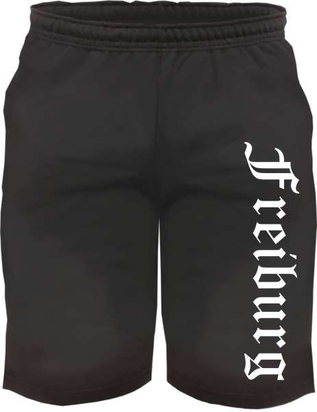 Freiburg Sweatshorts - Altdeutsch bedruckt - Kurze Hose Shorts