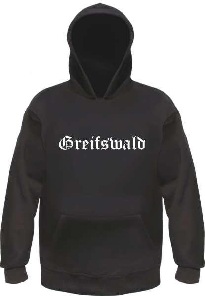 Greifswald Kapuzensweatshirt - Altdeutsch bedruckt - Hoodie Kapuzenpullover