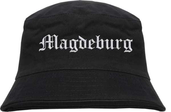 Magdeburg Fischerhut - Altdeutsch - bestickt - Bucket Hat Anglerhut Hut