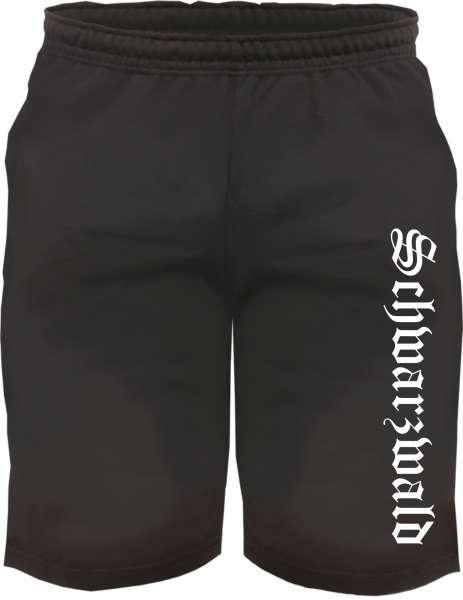 Schwarzwald Sweatshorts - Altdeutsch bedruckt - Kurze Hose Shorts