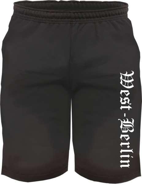 West-Berlin Sweatshorts - Altdeutsch bedruckt - Kurze Hose Shorts