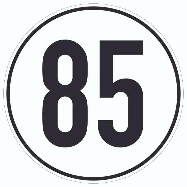 85km/h Geschwindigkeit Aufkleber Kreis