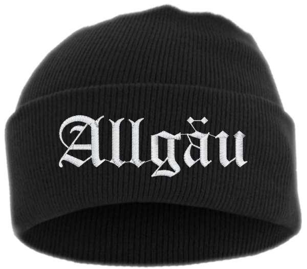 Allgäu Umschlagmütze - Mütze - bestickt -
