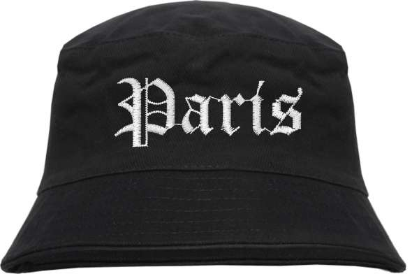 Paris Fischerhut - Altdeutsch - bestickt - Bucket Hat Anglerhut Hut