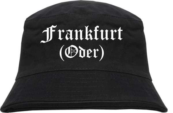Frankfurt/Oder Fischerhut - Altdeutsch - bedruckt - Bucket Hat Anglerhut Hut