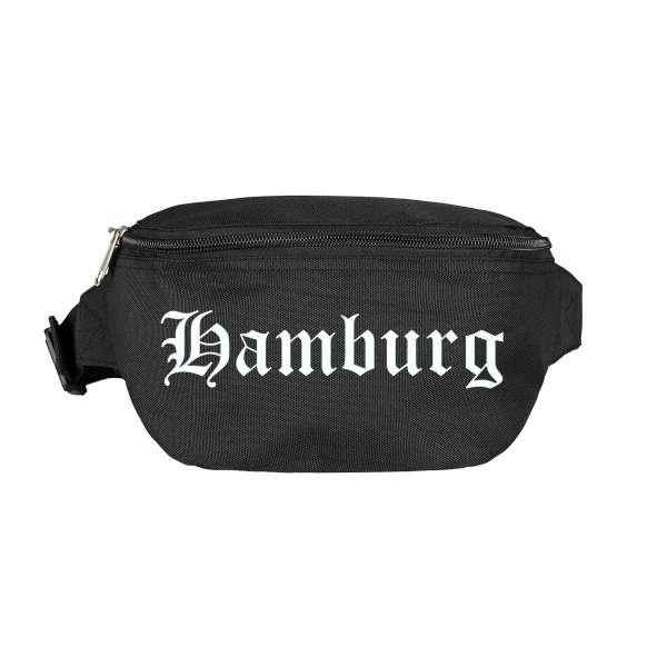 Hamburg Bauchtasche - Altdeutsch bedruckt - Gürteltasche Hipbag