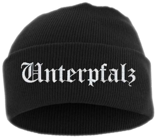 Unterpfalz Umschlagmütze - Altdeutsch - Bestickt - Mütze mit breitem Umschlag