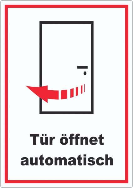 Tür öffnet automatisch Aufkleber
