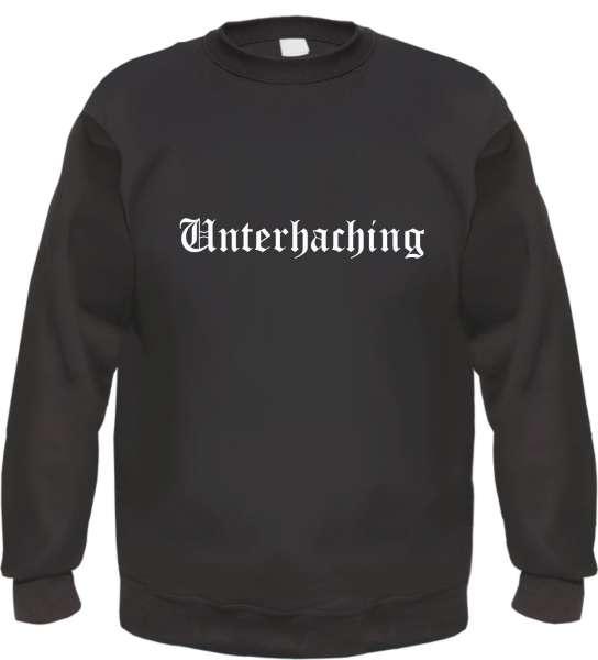 Unterhaching Sweatshirt - Altdeutsch - bedruckt - Pullover