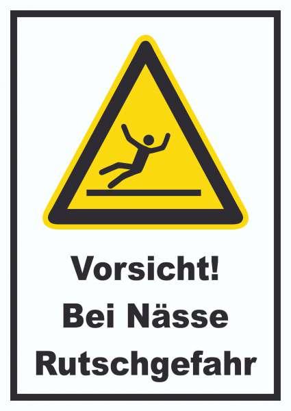 Vorsicht Bei Nässe Rutschgefahr Schild