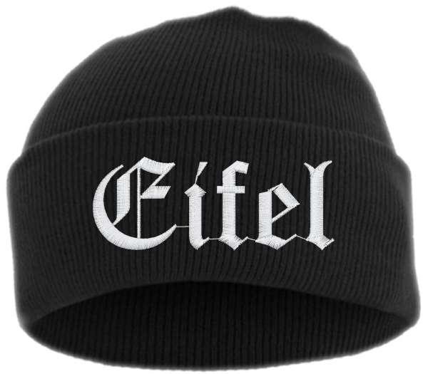 Eifel Umschlagmütze - Altdeutsch - Bestickt - Mütze mit breitem Umschlag