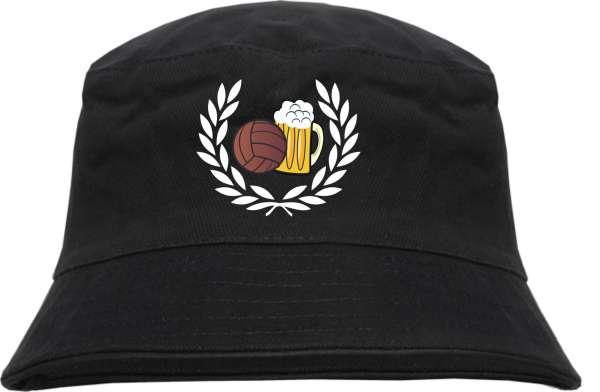 Lorbeerkranz Fussball Bier Fischerhut - Bucket Hat - bestickt-
