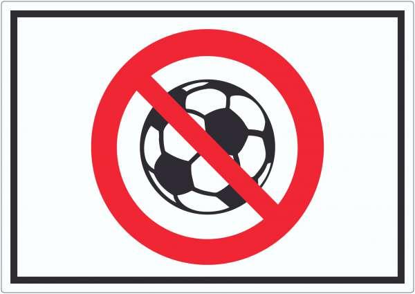 Ballspielen verboten Symbol Aufkleber