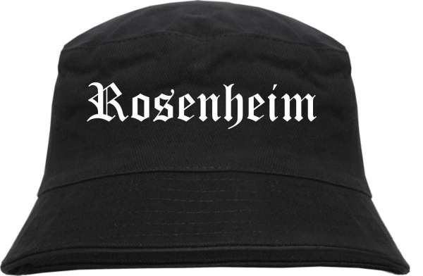 Rosenheim Fischerhut - Altdeutsch - bedruckt - Bucket Hat Anglerhut Hut