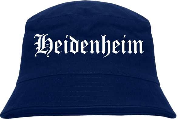 Heidenheim Fischerhut - Dunkelblau - Altdeutsch - bedruckt - Bucket Hat Anglerhut Hut