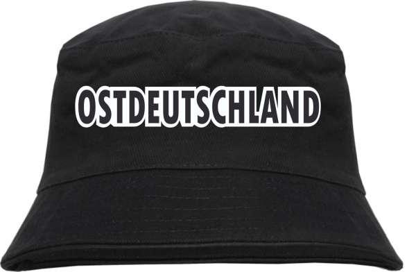 Ostdeutschland Blockschrift Farbig Fischerhut - bedruckt - Bucket Hat Anglerhut Hut
