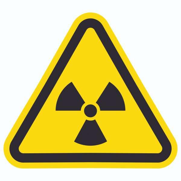 Achtung Radioaktive Strahlung Symbol Aufkleber Dreieck