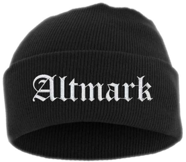 Altmark Umschlagmütze - Mütze - bestickt -