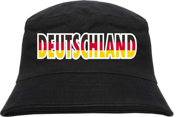 Deutschland Fischerhut - mehrfarbig bedruckt - Anglerhut