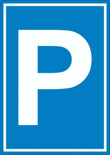 Parkplatz Aufkleber